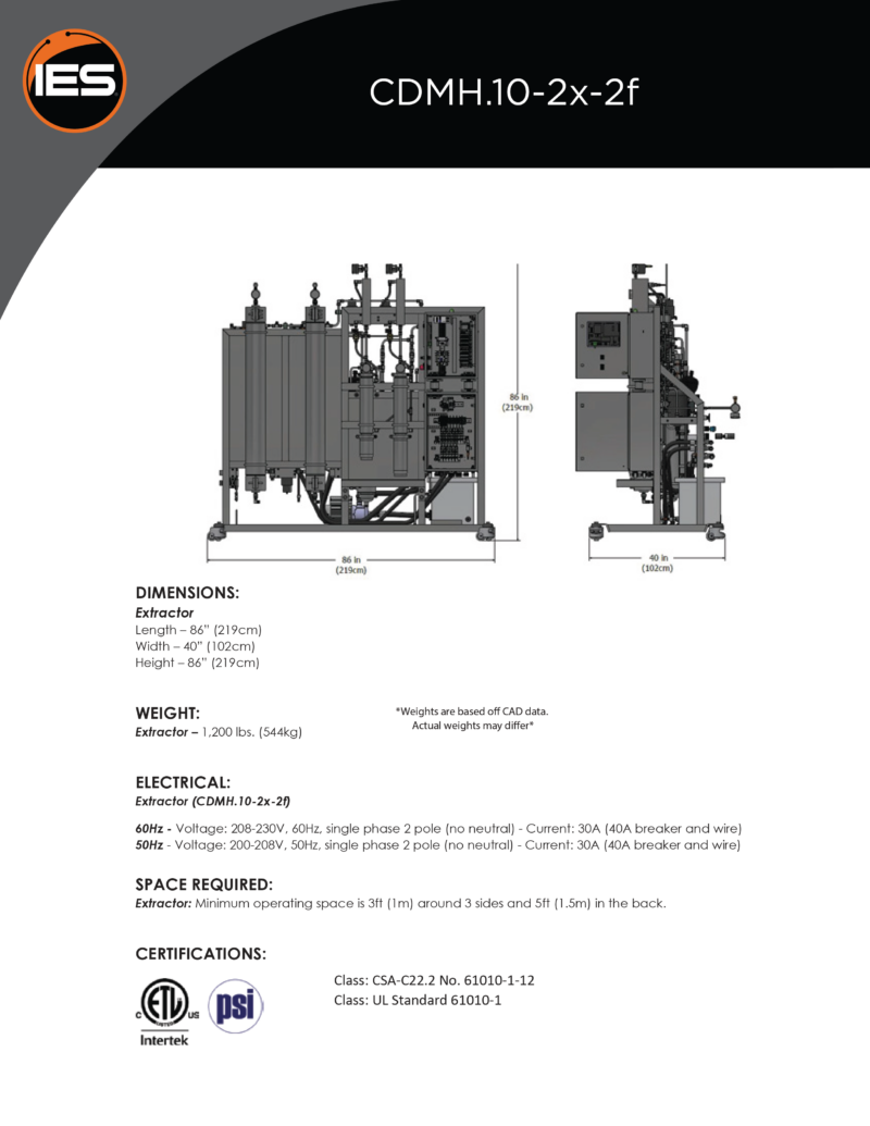 Isolate Extraction Systems CDMH.10-2x-2f