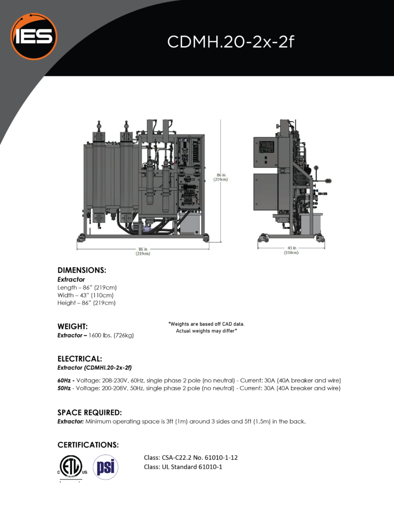 Isolate Extraction Systems CDMH.20-2x-2f